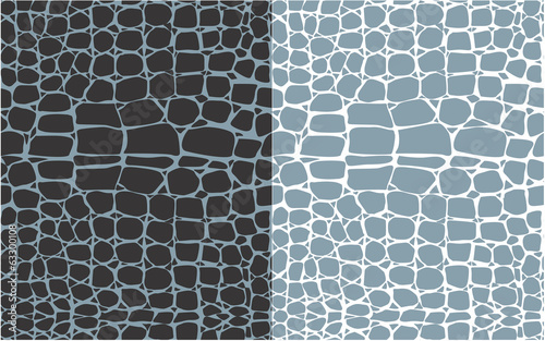 Set of reptile skin seamless patterns