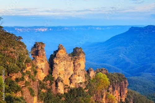 In de dag Australië Three Sisters Australia