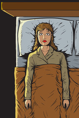 Girl can't sleep