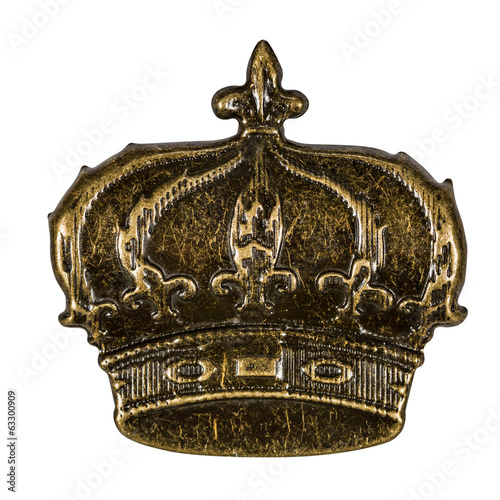 Crown, element for scrapbooking, isolated on a white background,