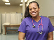 Smiling Nurse African American in Hospital - 63301378