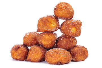 bunuelos de viento, typical pastries of Spain, eaten in Lent