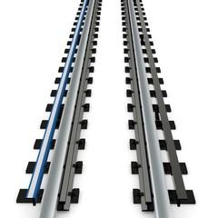 3d empty subway railway