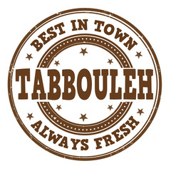 Tabbouleh stamp