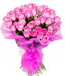 canvas print picture - Bouquet of pink roses