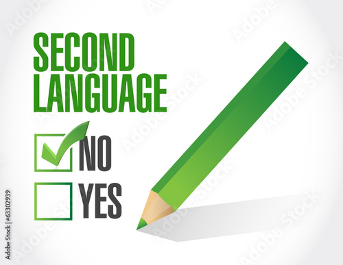 no second language check mark illustration