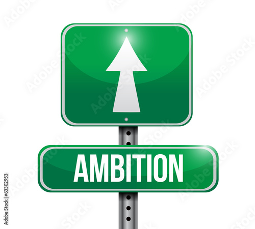 ambition street sign illustration design