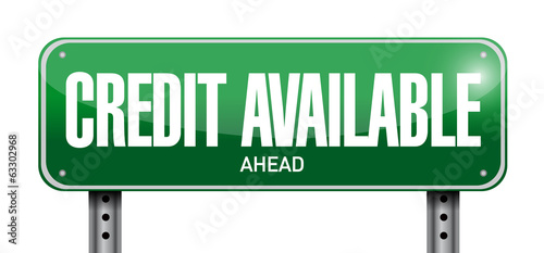 credit available street sign illustration design