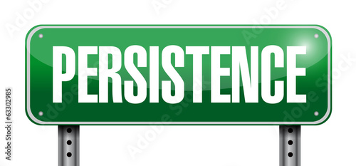 persistence sign illustration design
