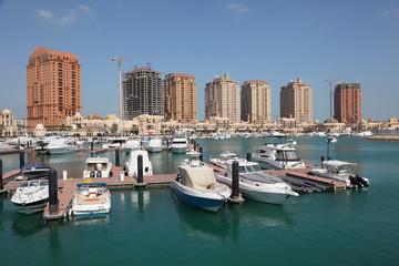 Marina in Porto Arabia. Doha, Qatar, Middle East