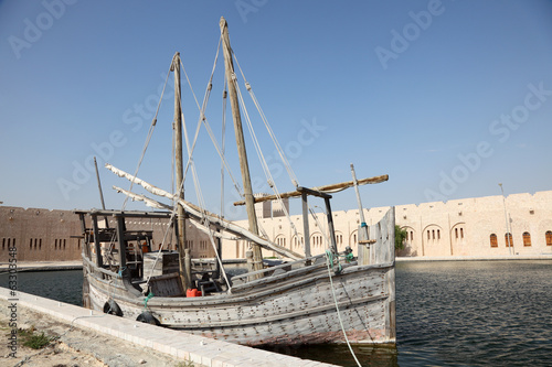 Historical dhow at Sheikh Faisal Museum in Qatar