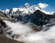 view of Everest from Gokyo