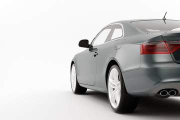 CG render of generic luxury coupe