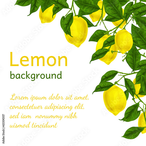Lemon background poster