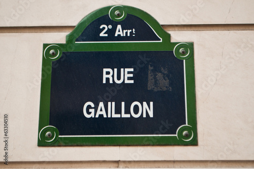 Rue Gaillon à Paris