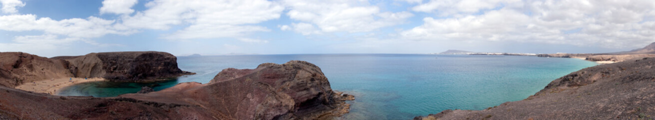 playa papagayo panorama, lanzarote