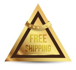 Triangles gold free shipping
