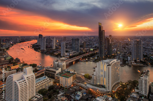 Bangkok city night view