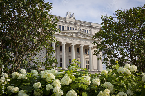 Latvian National Opera Theater in Riga