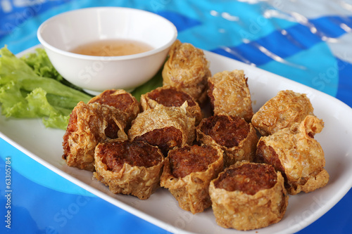 deep fried crab meat roll cake