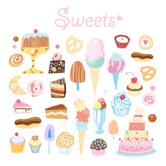 different sweets