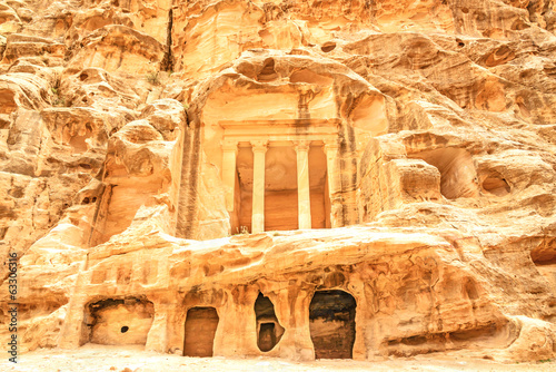 Nabataean delubrum of the Siq al-Barid in Jordan.