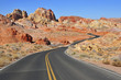 Driving in Red Rock Landscape, Southwest USA
