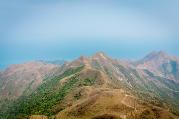Mountain view of countryside in Asia
