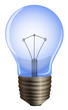 A blue light bulb
