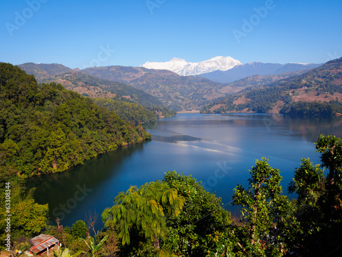 Begnas Tal, Pokhara, with view to Annapurna range