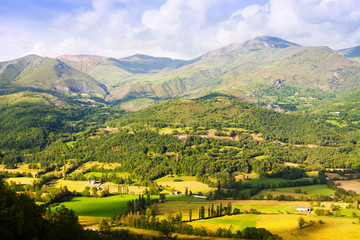 Summer view of valley at Pyrenees