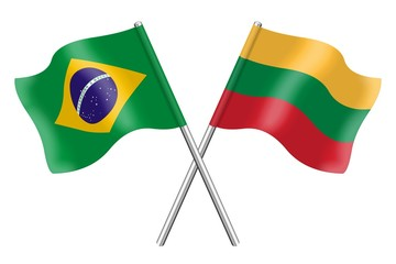 Flags : Brazil and Lithuania