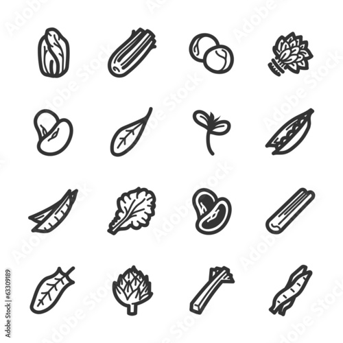 Vegetables icons – Bazza series