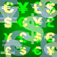 background business monetary symbols