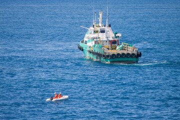 Lifeboat or rescue boat in offshore