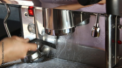 Brush Cleaning Group Of Espresso Machine, stock video