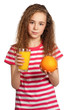 Girl with orange juice