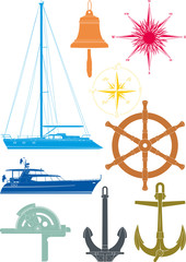 marine and yachting symbols