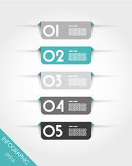 turquoise rounded rectangular stickers with shadows