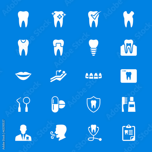 Dental flat icons