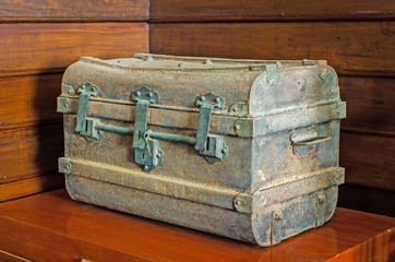 Ancient metal chest
