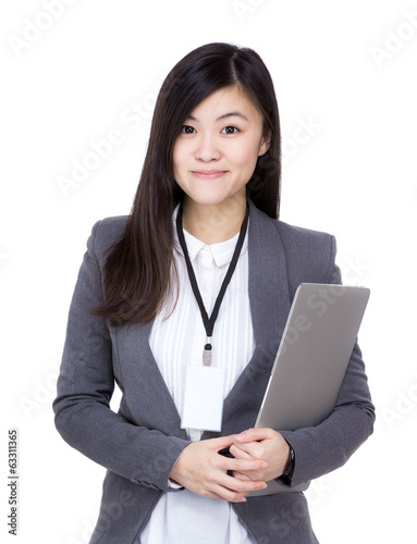 Asia businesswoman with laptop computer
