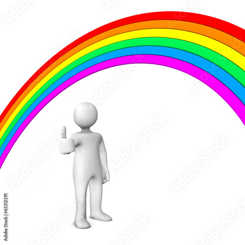 canvas print picture Rainbow Ok