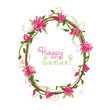 Happy Easter! Floral frame for your design