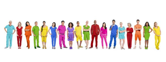 Multi-Ethnic Colorful People