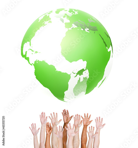 Group of Hands United as One