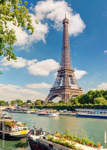 The Eiffel tower in Paris - 63313946