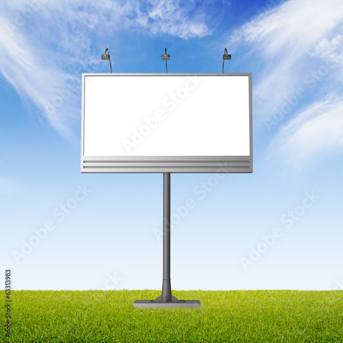 Billboard with empty screen