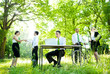 Environmental Friendly Themed Picture Of Business People Working