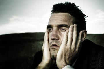 Distraught Businessman